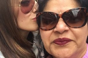 Hansika and mother in London