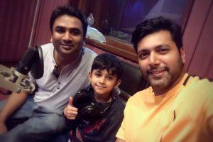Jayam Ravi's son Aarav completes dubbing for Tik Tik Tik