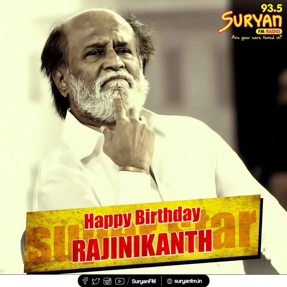 Rajinikanth celebrates his 67th birthday.