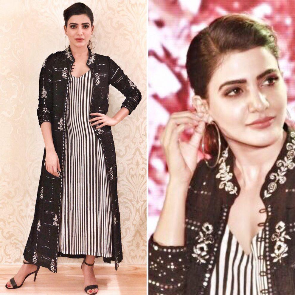 Samantha at Irumbu Thirai teaser launch.