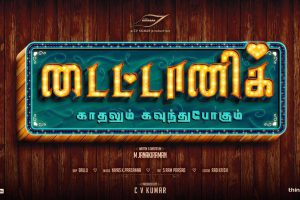 C.V Kumar's next is Titanic - Kadhalum Kavunthu Pogum starring Kalaiarasan, Anandhi and Ashna Zaveri.