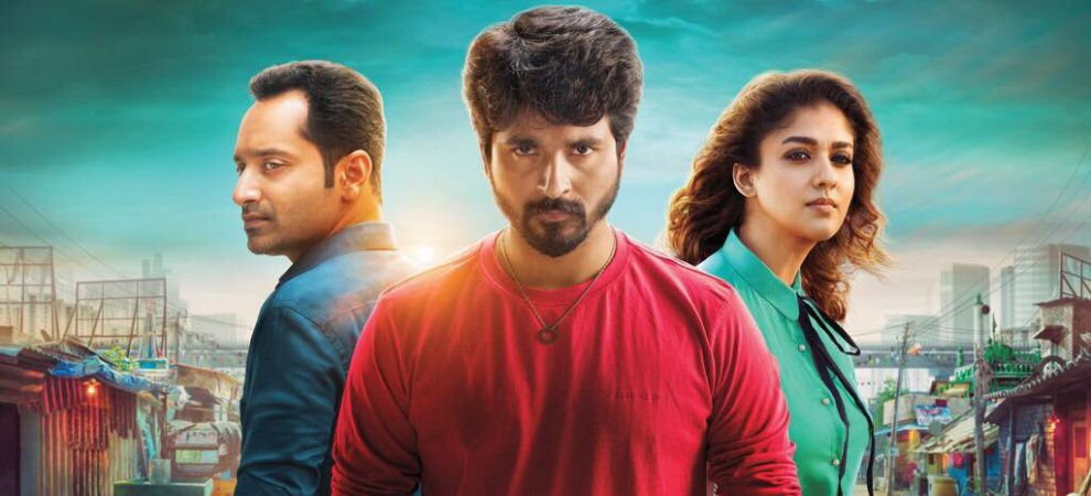Sivakarthikeyan, Fahadh Faasil and Nayanthara in Velaikkaran poster.