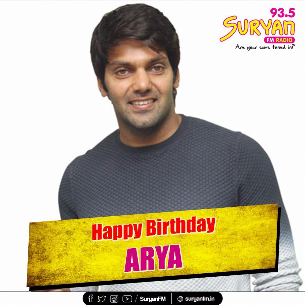 Actor Arya Birthday