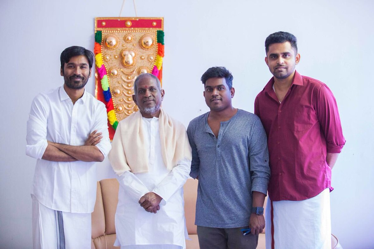 Ilaiyaraja sung a song for Dhanush's Maari 2.