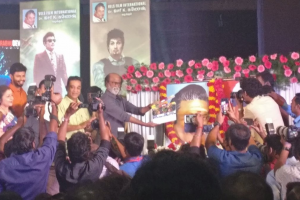 Kizhakku Africavil Raju launched by Rajinikanth by clapping the first shot, in the presence of Kamal Haasan.