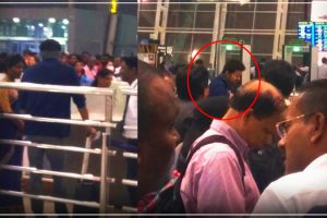 Actor Vijay spotted at Chennai International Airport.
