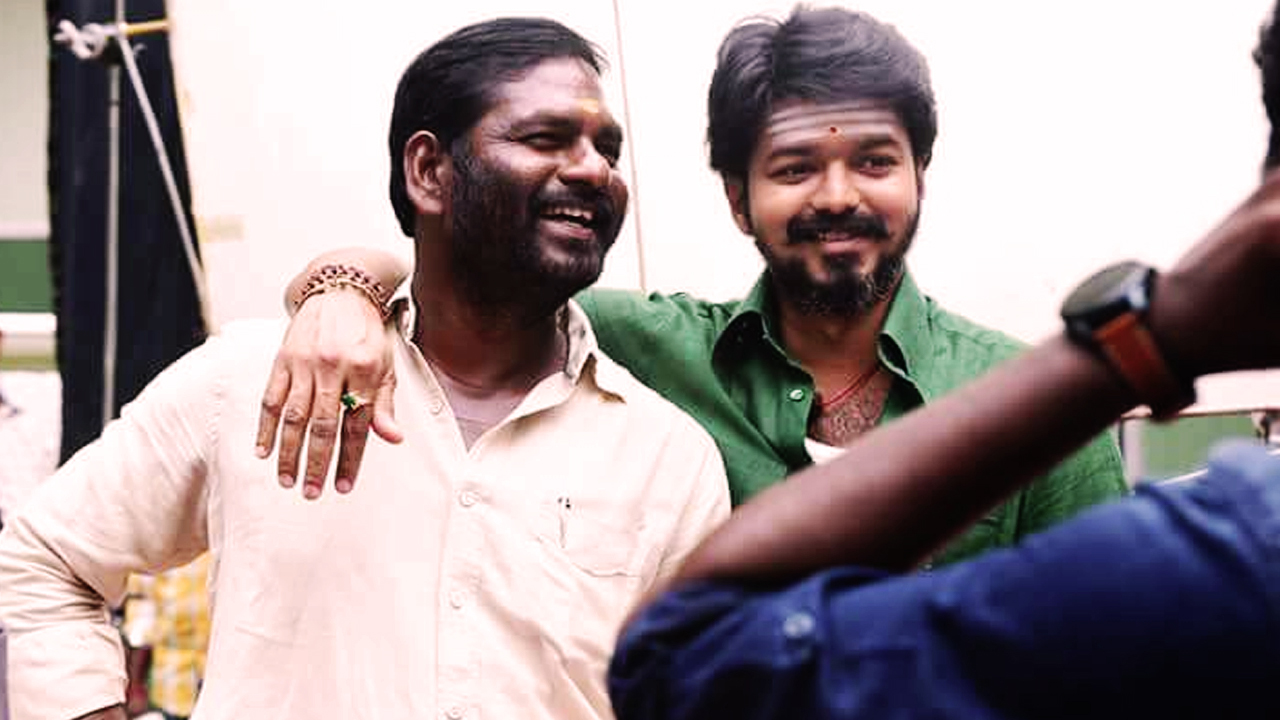 An unseen picture of Vijay from Mersal shooting location.