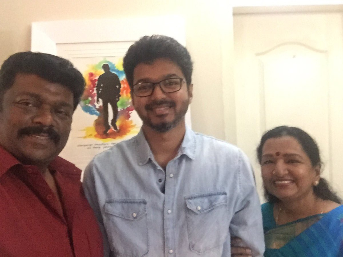 Thalapathy Vijay with R. Parthiepan