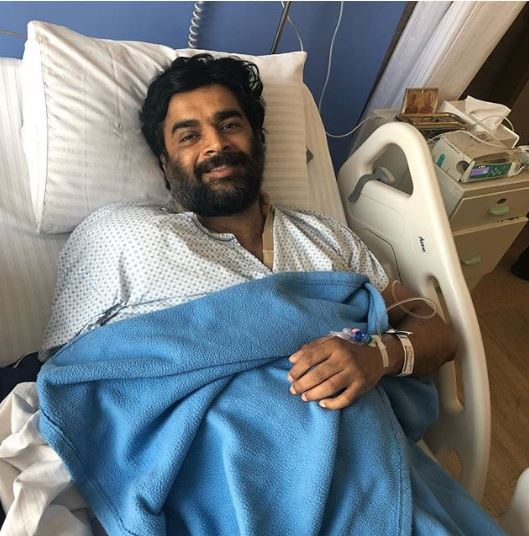 Actor Madhavan recovering from a shoulder surgery