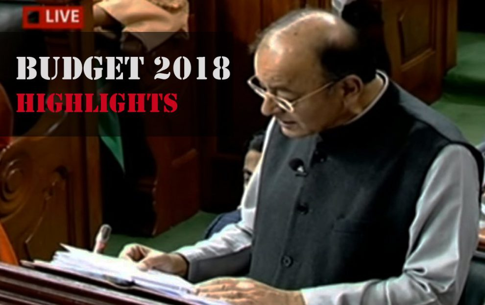 Union Budget 2018-2019 Highlights. Image source- @airnewsalerts/Twitter
