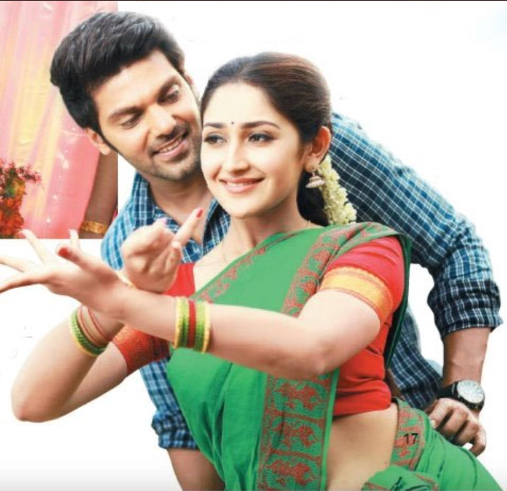 Ghajinikanth starring Arya and Sayyeshaa, directed by Santhosh P. Jayakumar