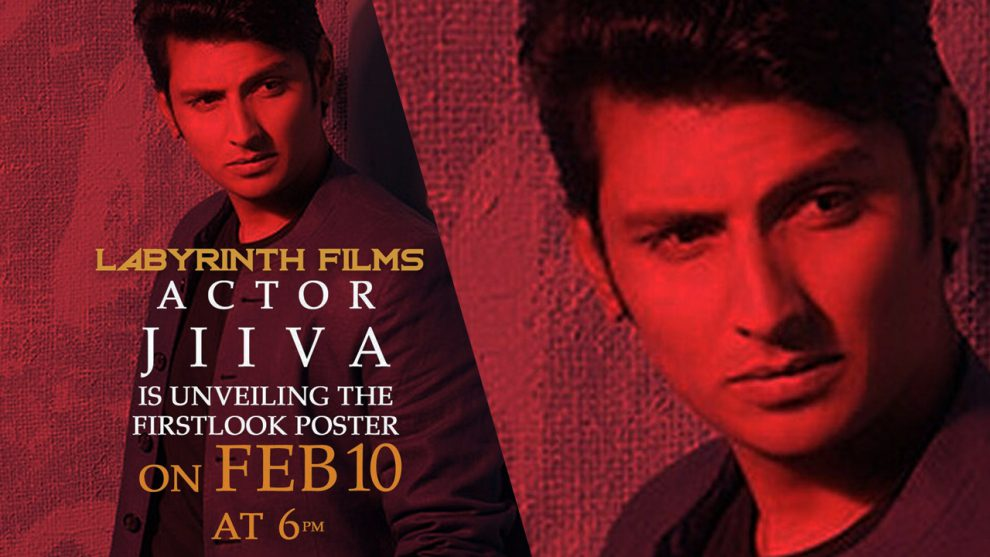 First look poster of Jiiva's next project bankrolled by Labyrinth Films to be out on February 10.
