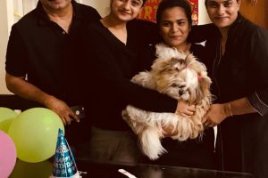 Namitha Pramod responds to online criticisms for celebrating her pet's birthday.