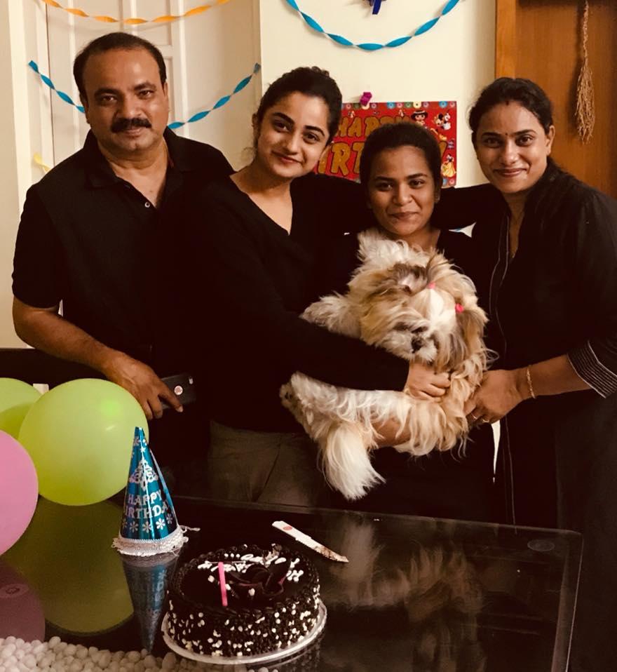 Namitha Pramod responds to online criticisms for celebrating her pet's birthday.