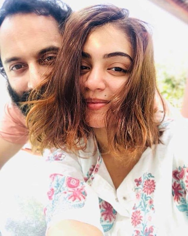 Nazriya with her husband Fahadh Faasil.