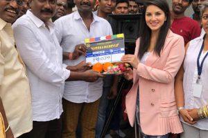 Sunny Leone's Veeramadevi shooting begins.