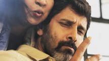 Actor Vikram and Radikaa SArathkumar at Dhruva Natchathiram shooting spot
