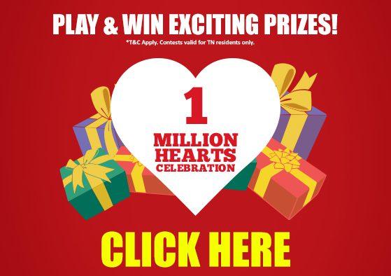 1 million celebrations