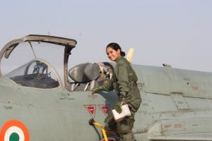 Avani Chaturvedi becomes first Indian woman to fly a fighter jet | Image source @IndianAirForce / Twitter