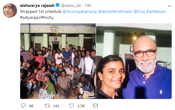 Aishwarya Rajesh and Sathyaraj