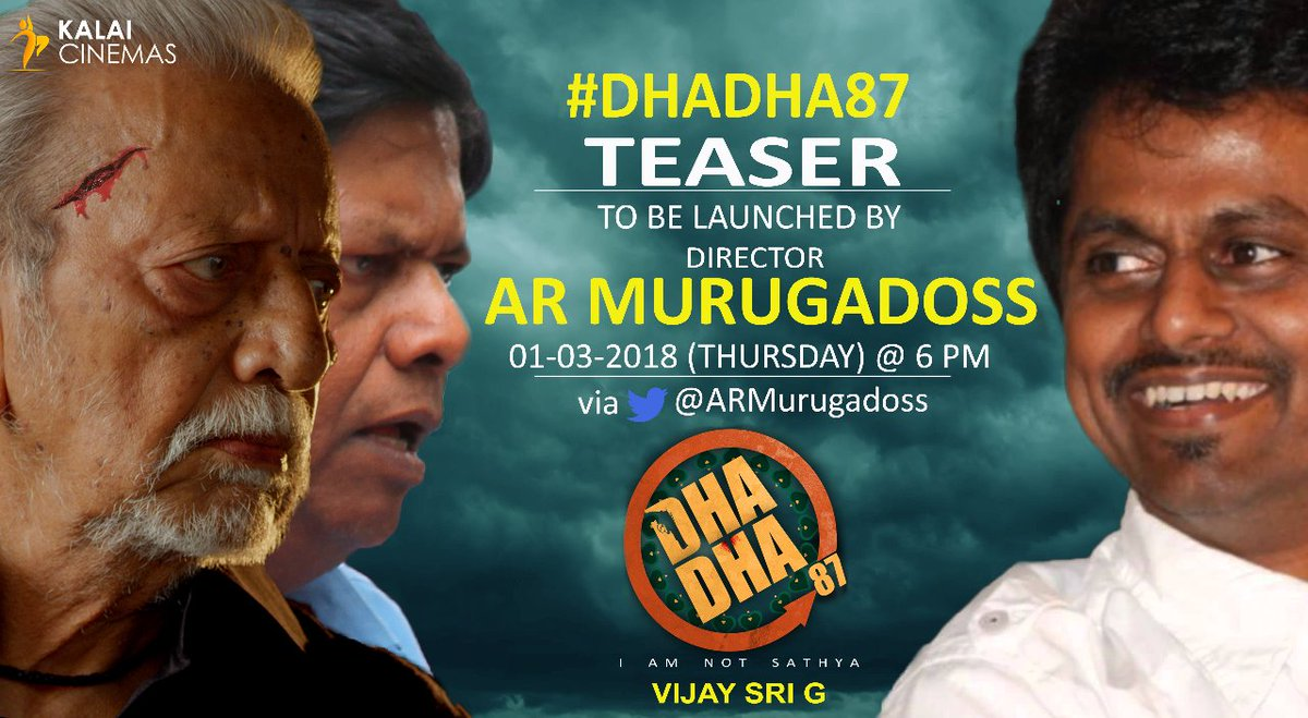 AR Murugadoss to release Dha Dha teaser on Thursday evening at 6 p.m.