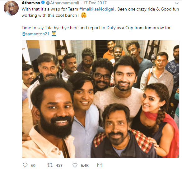 Imaikaa Nodigal shooting wrapped up