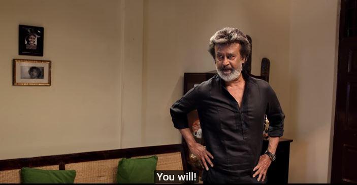 Rajinikanth in Kaala. Photo: A screenshot from the official trailer/Wunderbad studios