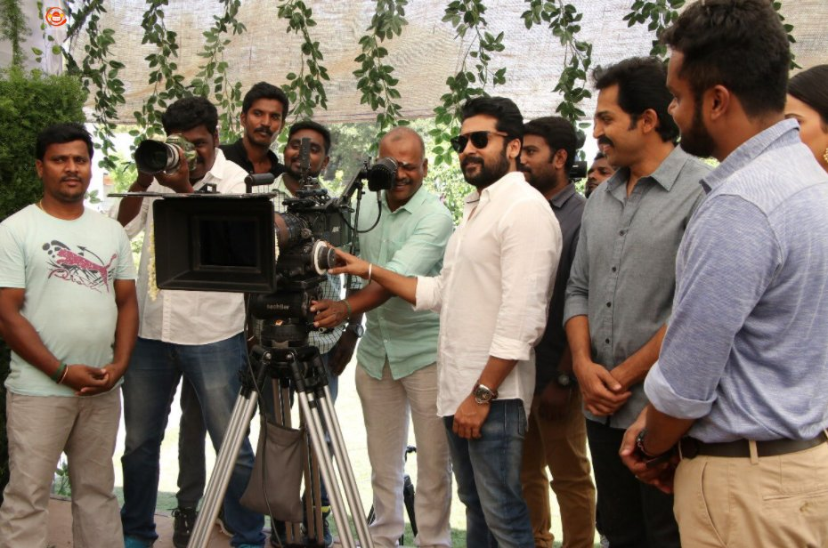 Actor Karthi's 17th project, Karthi 17, directed by Rajath Ravi Shankar launched with a simple pooja.