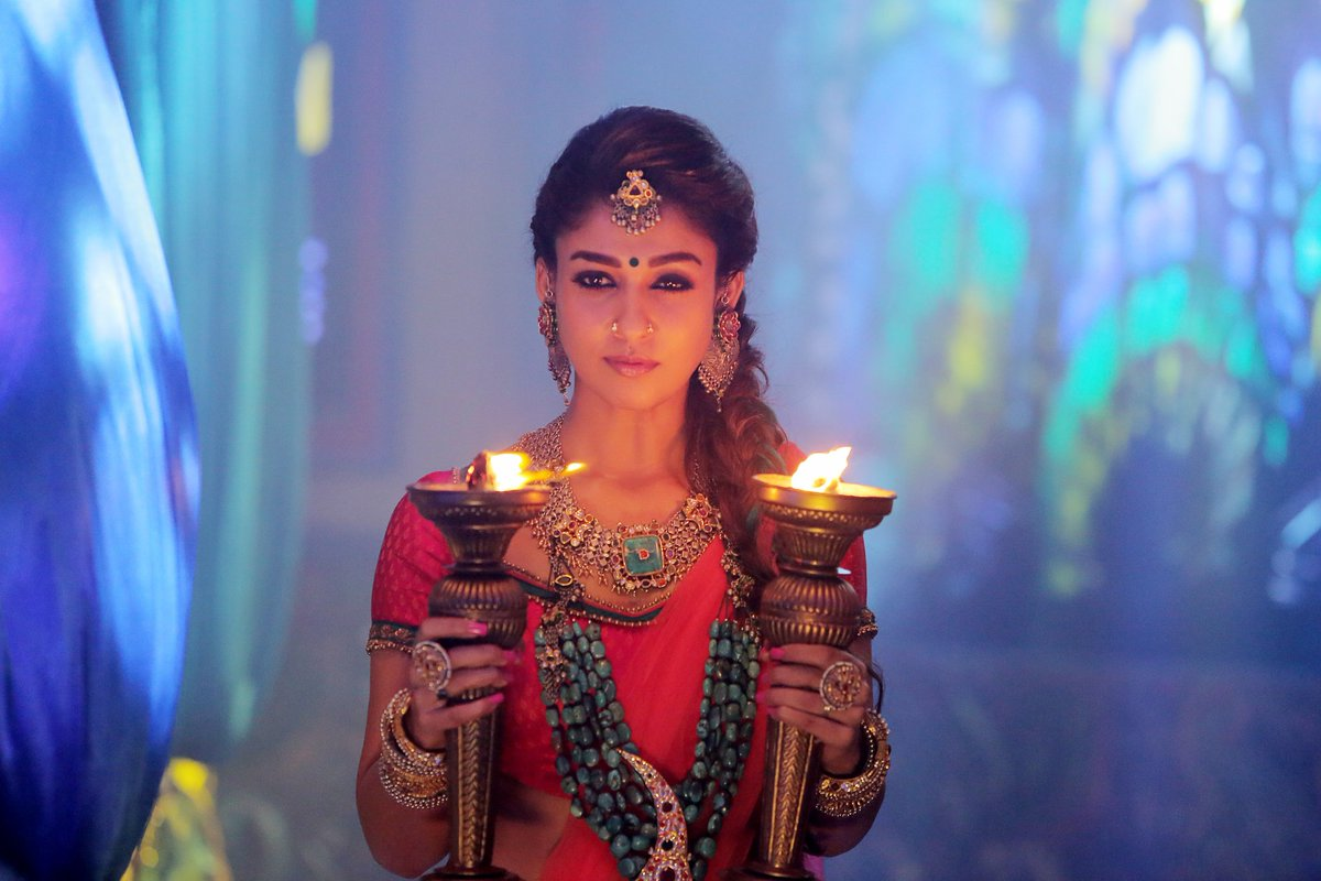 Nayanthara in a still from Kaashmora