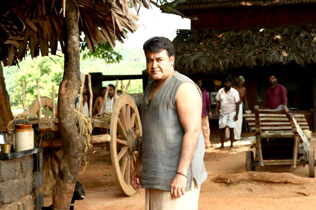Mohanlal from the sets of Odiyan