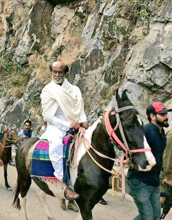 Superstar Rajinikanth at the Himalayas.