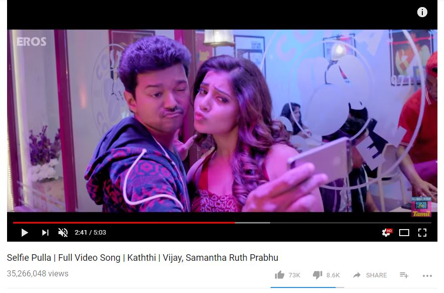 A still from Selfie Pulla song.
