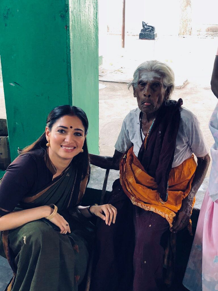 Tamannaah with Seenu Ramasamy's grandmother.