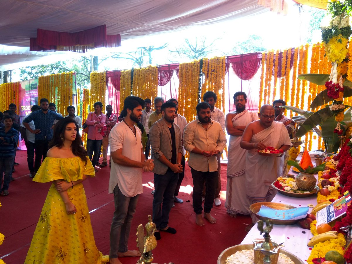 Vijay Devarakonda's upcoming bi-lingual movie directed by Anand Shankar launched.