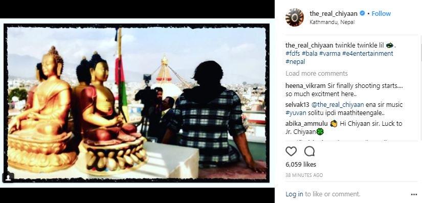 Varama shooting begins | Image courtesy @the_real_chiyaan/ Instagram