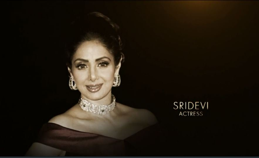Late actor Sridevi honored at the 90th Academy Awards