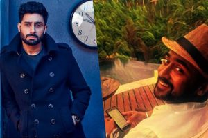 Suriya wishes Abishek Bachchan good luck