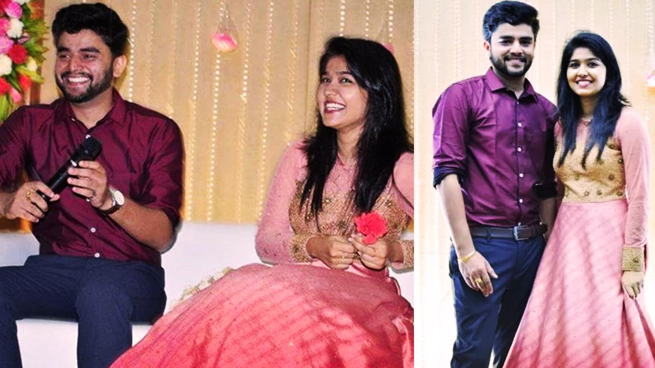 Jimikki Kammal fame Sheril G KAdavan gets engaged to Praful Tomy.