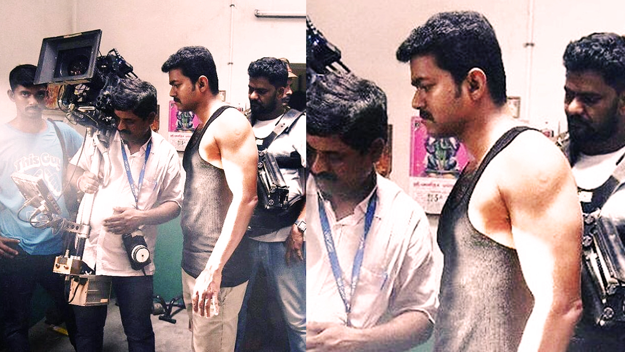 Unseen picture of Vijay from Mersal shooting set