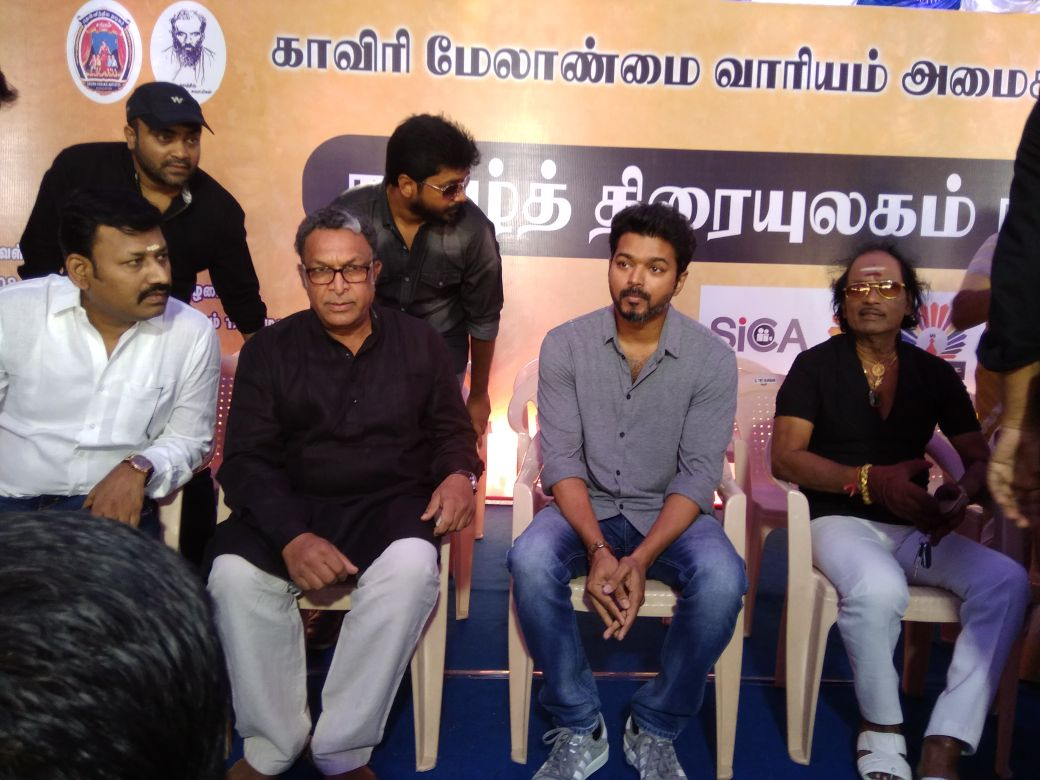 Vijay protest Cauvery Management Board