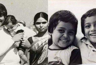 Suriya Karthi unseen childhood still