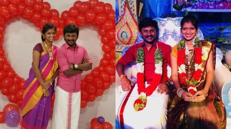 Valentines Day pic of celebrity singers Senthil Ganesh and Rajalakshmi of Chinna Machaan fame