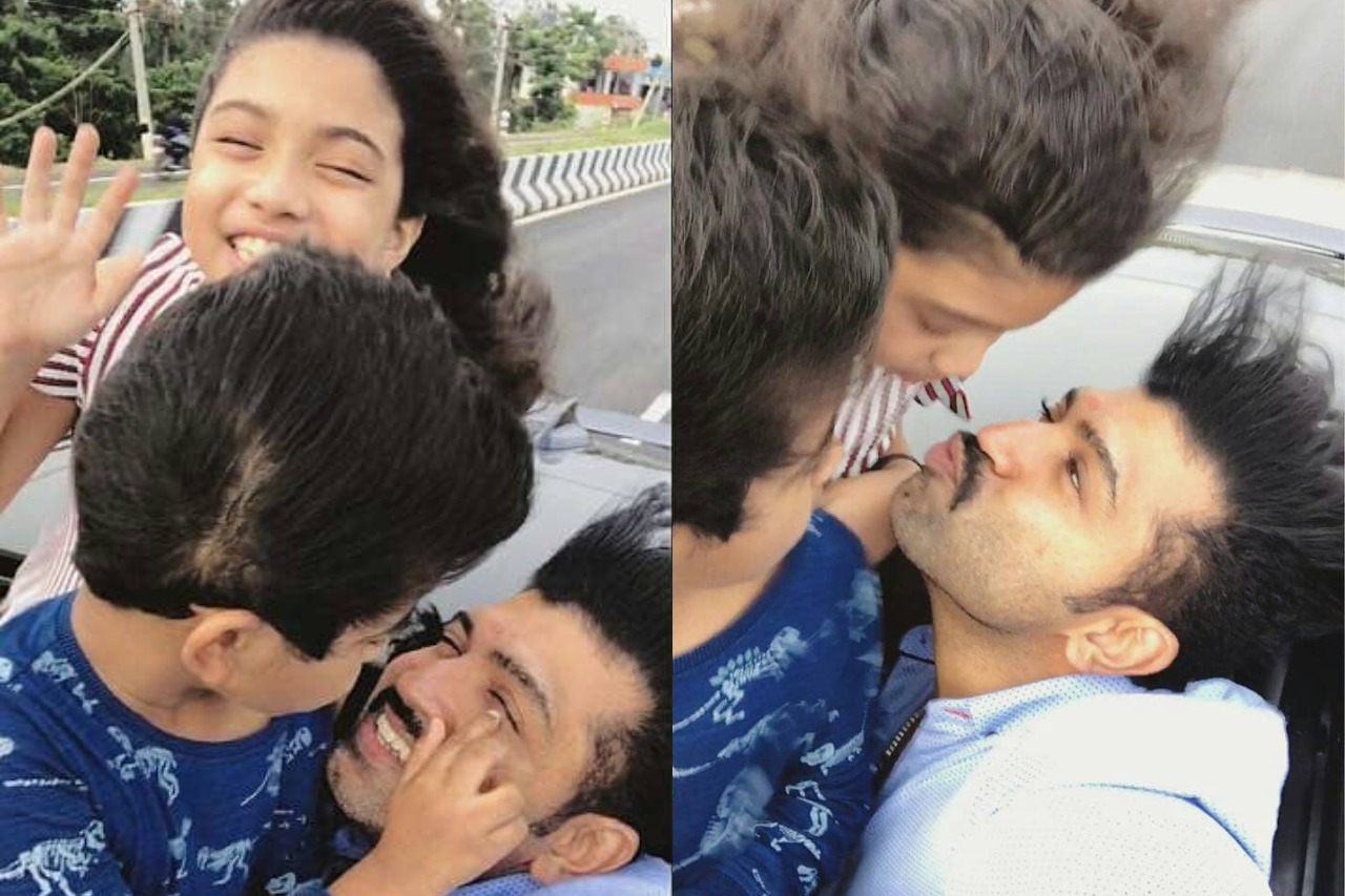 Actor Arun Vijay with his family