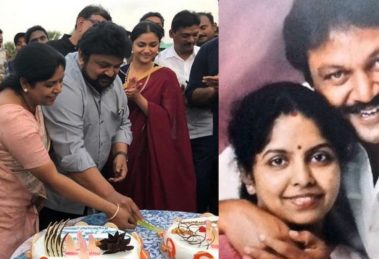 Actor Prabhu celebrates wedding anniversary with wife on the sets of Marakkar