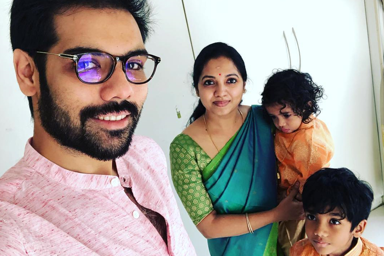 Actor Sibiraj and family