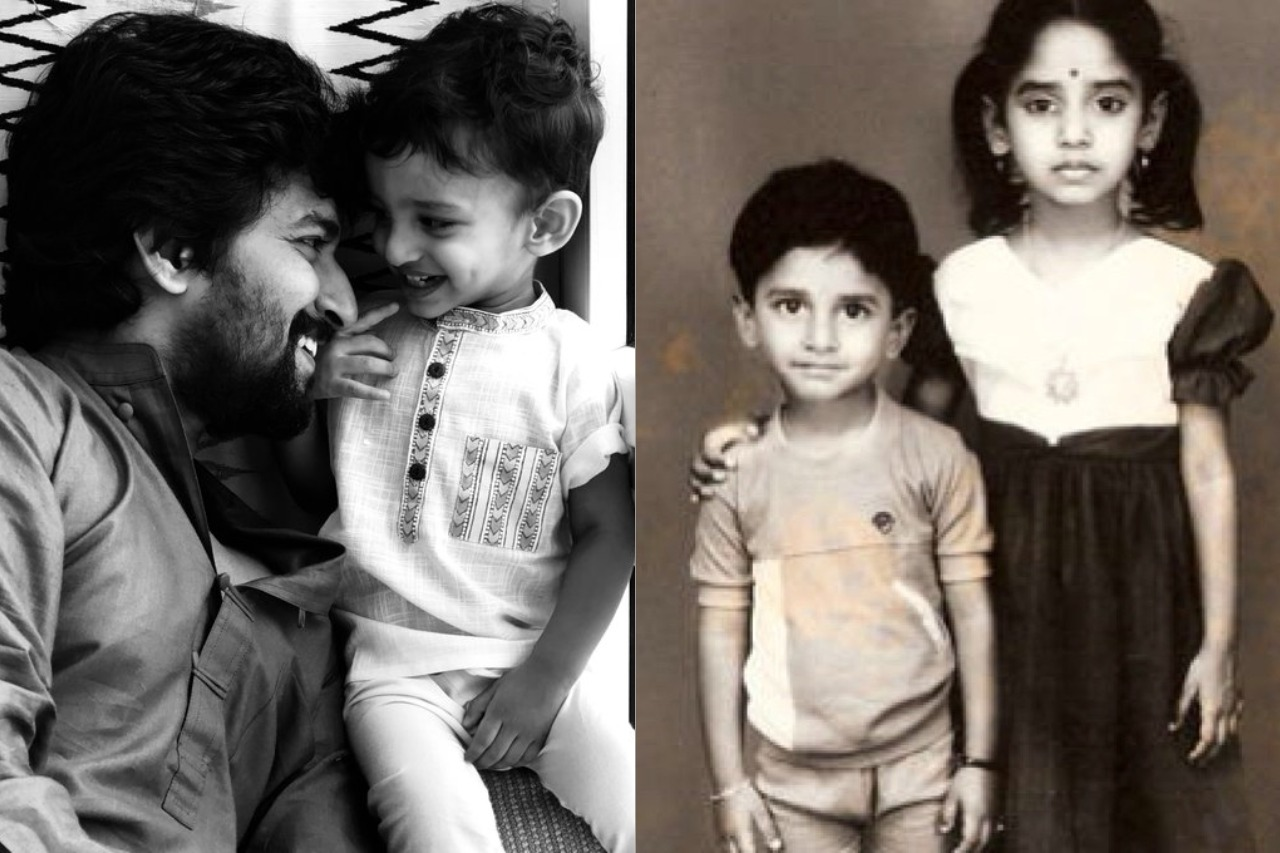 Actor Nani with his son