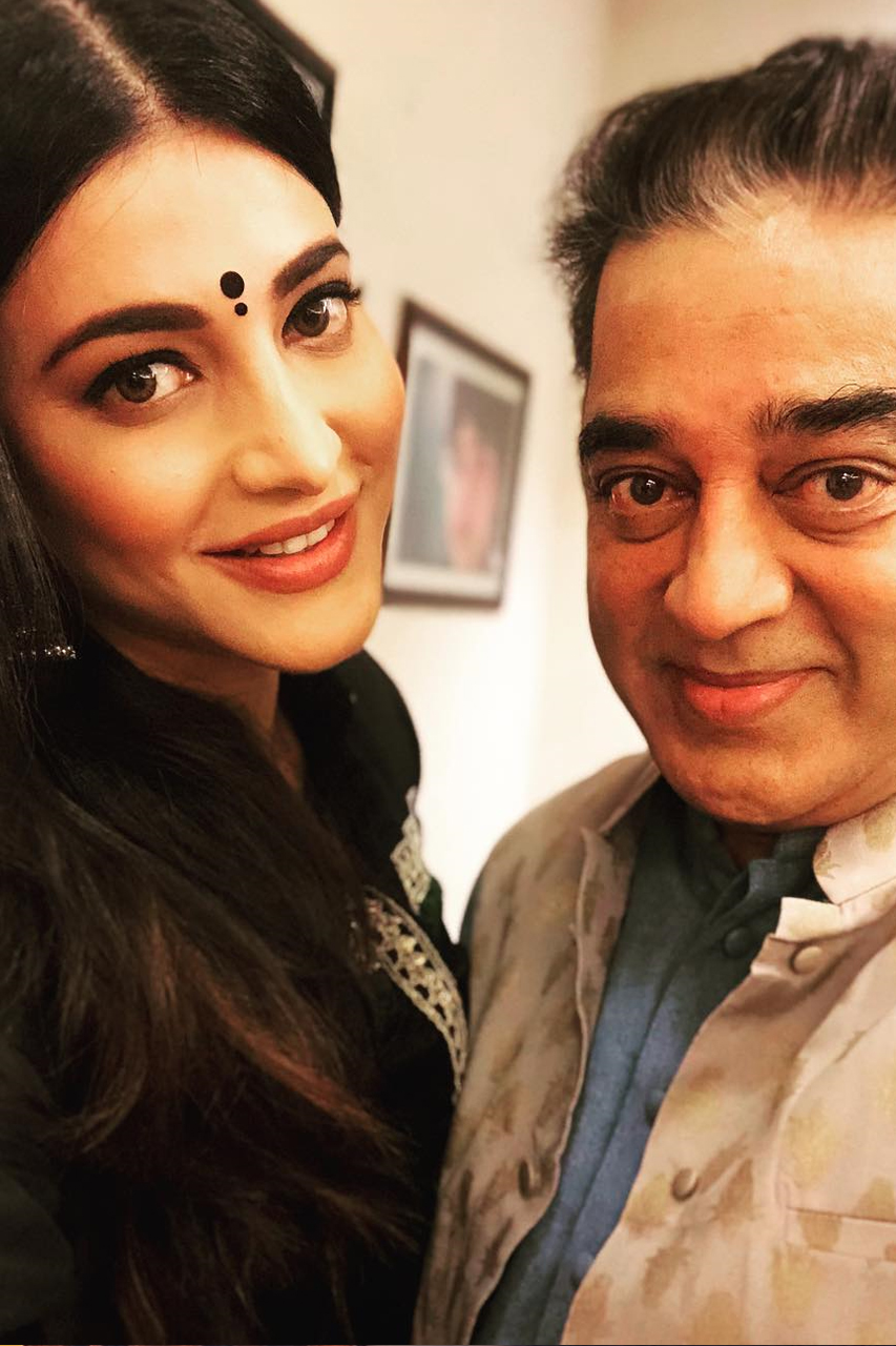 Kamal Haasan with ShrutiHaasan