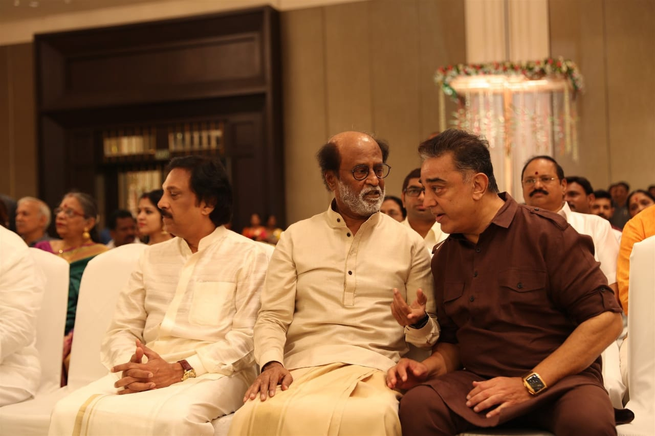 Kamal Haasan at Soundarya Rajinikanth wedding.