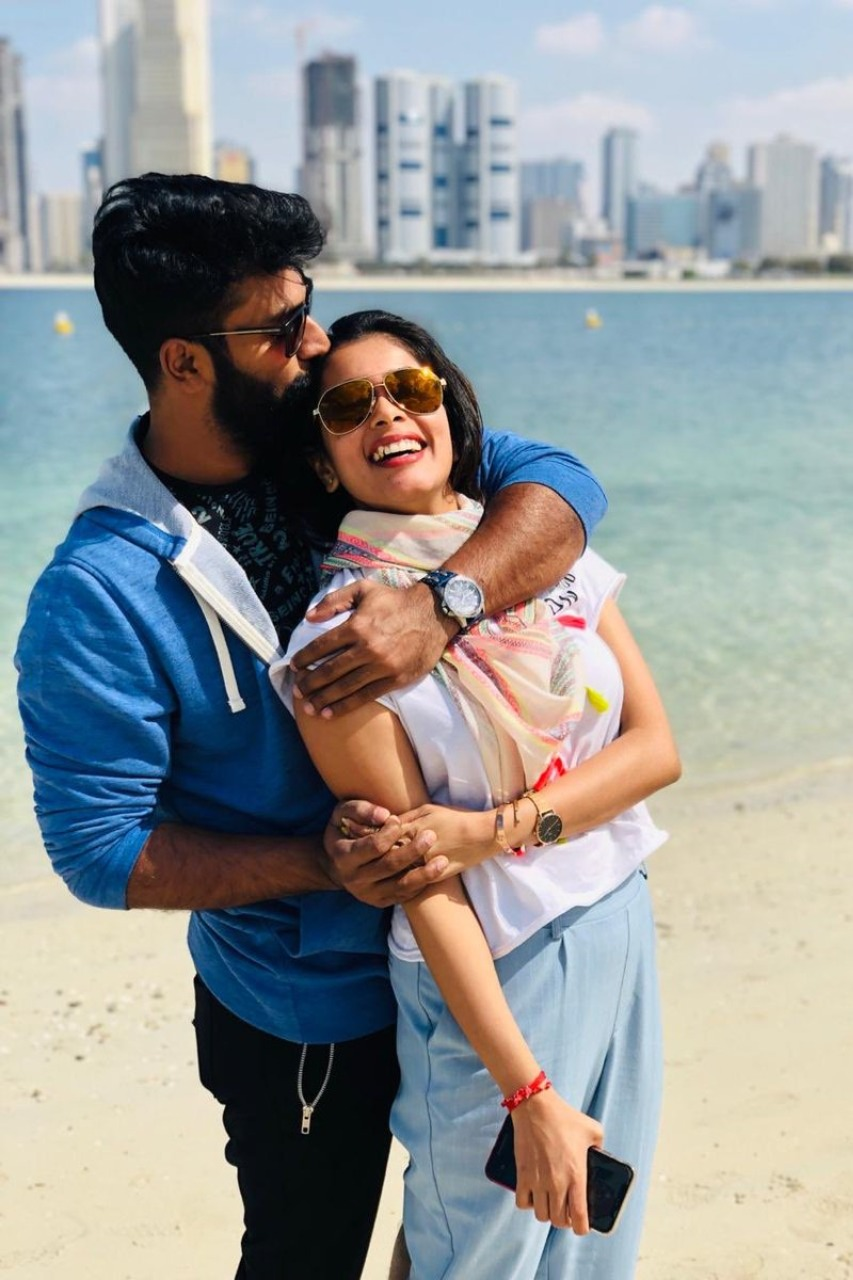 Actor Shanthanu with his wife