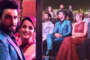 Trisha and Ranveer Singh at a recent award function
